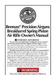 beeman break barrel air rifle manual rifle trigger firearms
