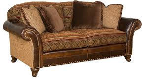 Leather Fabric For Sofa Leather And Fabric Furniture Comfy Fabric Sofas Memsaheb Brown