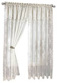 Lace Curtains And Valances Interesting Lace Curtains With Attached Valance And Curtains With