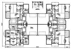 three plex floor plans fourplex house plans home act