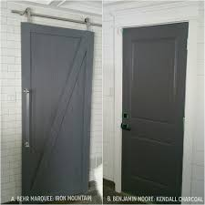 dark gray paint the perfect dark grey paint and a barn door makeover this