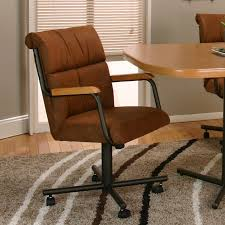 Suede Dining Room Chairs Furniture Brown Velvet Dining Chairs With Casters Combined With