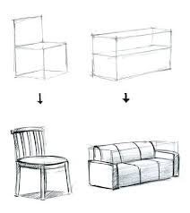 comment dessiner un canapé canapé et chaise perspective canapés chaises et