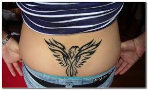 tattoo eagle girl great lowerback tribal eagle tattoo