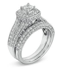 white gold wedding band sets antique princess 2 carat wedding ring set for in white gold