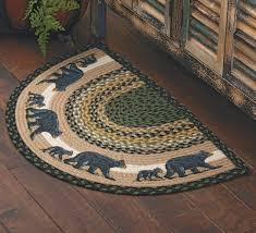 Braided Rugs Round by Mama Black Bear U0026 Cub Half Round Braided Rug Scenic Floor