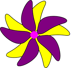 Flag Flower Decorations Purple And Yellow Pink Purple And Yellow Dahlia