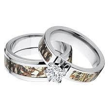 camouflage wedding rings his and hers camo wedding rings wedding corners