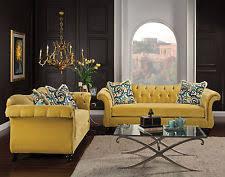 Gold Sofa Living Room Velvet Living Room Sofa Sets Ebay