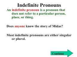 indefinite and reflexive pronouns