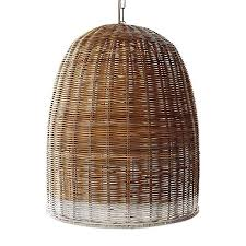 Wicker Pendant Light Stylish Basket Pendant Light Highlow A Trio Of Woven Wicker