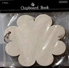 Colorbok Scrapbook Colorbok Chipboard Flower Shaped Scrapbook Album Products