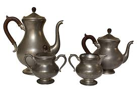 Anc Home Decor Beautiful Vintage Pewter Tea And Coffee Set 4 Pcs Vintage