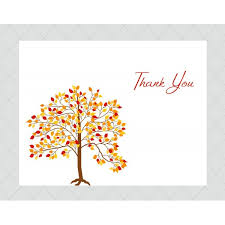 tree thank you cards style 307 whimsicalprints