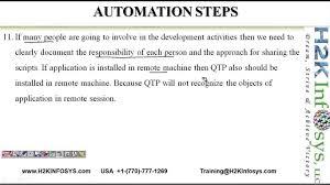 qtp quick test professional training uft training steps to