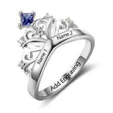 rings for mothers personalized birthday gifts birthstone name promise rings