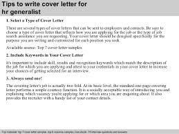 Hr Generalist Resume Sample by Hr Generalist Cover Letter