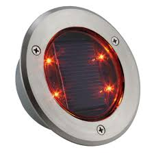 Red Solar Lights by Sun Dot Stainless Steel Solar Powered Led Red Light Sd R The