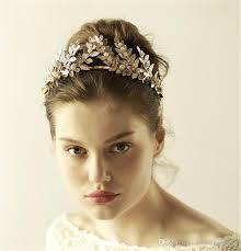 gold headband 2018 vintage gold leaf crown headband tiara wedding bridal