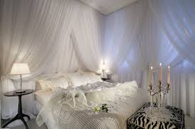 White Canopy Bed Curtains Bedroom Make The Bedroom As The Truly Of The House