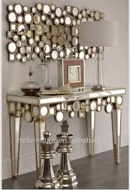Mirrored Console Table Sculpture Wooden Mirrored Console Table With Wall Mirror Furniture
