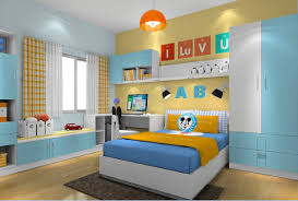 yellow and blue bedrooms furniture decorating
