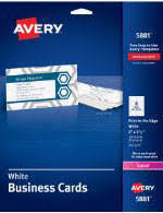 avery printable microperf business cards inkjet 2 x 3 1 2 ivory
