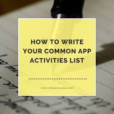 sample of photo essay how to write your common app activities list college essay guy how to write your common app activities list college essay guy get inspired