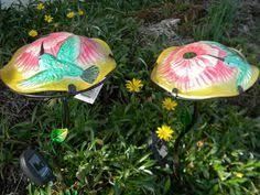 Ladybug Solar Garden Lights - ladybug solar light set of 2 domed shaped glass u0026 metal yard