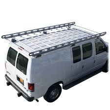 vantech h2 ford econoline aluminum roof rack system discount ramps