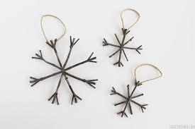 snowflake ornaments rustic twig christmas ornaments rustic christmas ideas