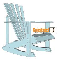 Free Patio Rocking Chair Plans by Adirondack Rocking Chair Plans Construct101