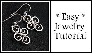 beginner earrings easy jewelry tutorial simple swirl earrings wire wrapping for