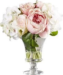 hydrangea bouquet faux and hydrangea bouquet in pedestal glass vase reviews