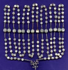 15 decade rosary sumptuous nouveau 15 decade silver of pearl catholic