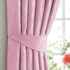 Soft Pink Curtains Soft Pink Woven Blackout Damask Pencil Pleat Curtains The Mill
