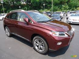 lexus rx red claret red mica 2013 lexus rx 450h awd exterior photo 67055328