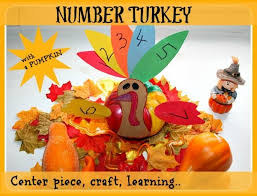 thanksgiving crafts for number turkey play box