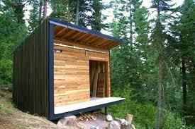 modern prefab cabin signal shed a micro modern cabin prefab inhabitat green