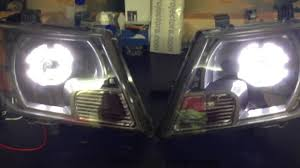 nissan frontier halo headlights nissan frontier bi xenon projector retrofit monster shrouds angel