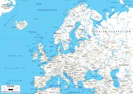 Europe Asia Map Download Map Of Map Of Europe Major Tourist Attractions Maps