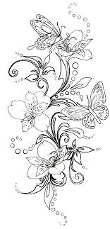 fleur papillon flower butterfly coloriage coloring coloring