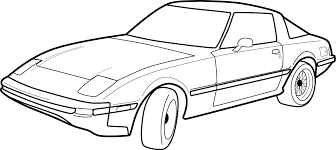 coloring pages drifting cars outline drawing of drift cars