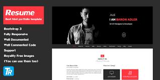 resume website template resume personal portfolio web template html resume website