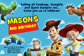 2nd Birthday Invitation Card Toy Story Birthday Invitations Kawaiitheo Com