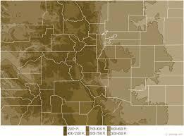 colorado physical map and colorado topographic map
