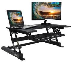 Height Adjustable Corner Desk by Desk V000b Vivo Height Adjustable Standing Tabletop Desk Riser Gas