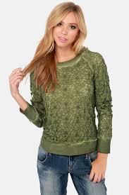 green sweater black swan sweater green sweater lace sweater 91 00
