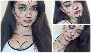 pop art makeup comic crying cartoon youtube