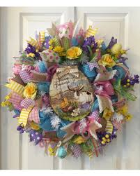 easter wreath slash prices on easter wreath bunny wreath easter mesh easter